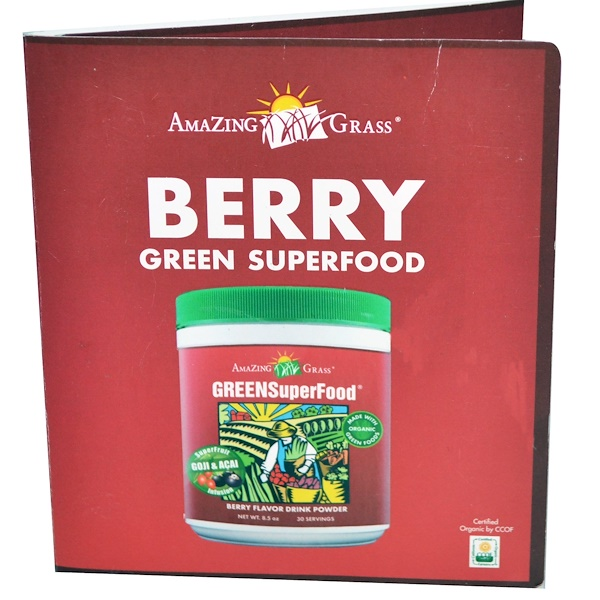 Amazing Grass, Green SuperFood, Berry Flavor Drink Powder, 8 g (Discontinued Item)