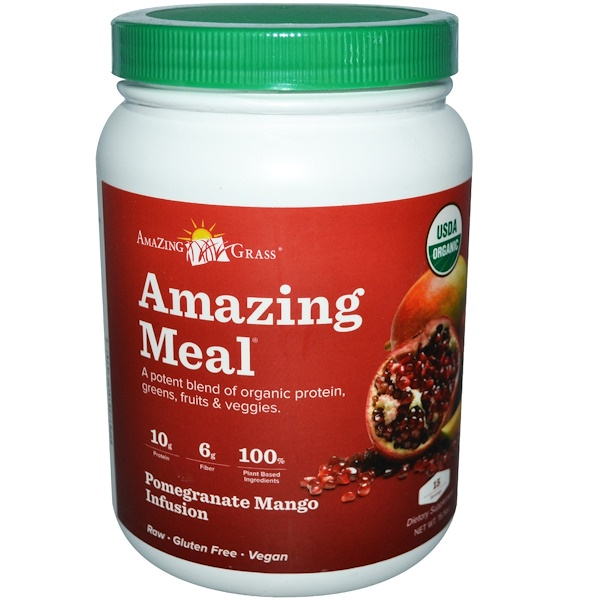 Amazing Grass, Amazing Meal, Pomegranate Mango Infusion, 15.5 oz (Discontinued Item)
