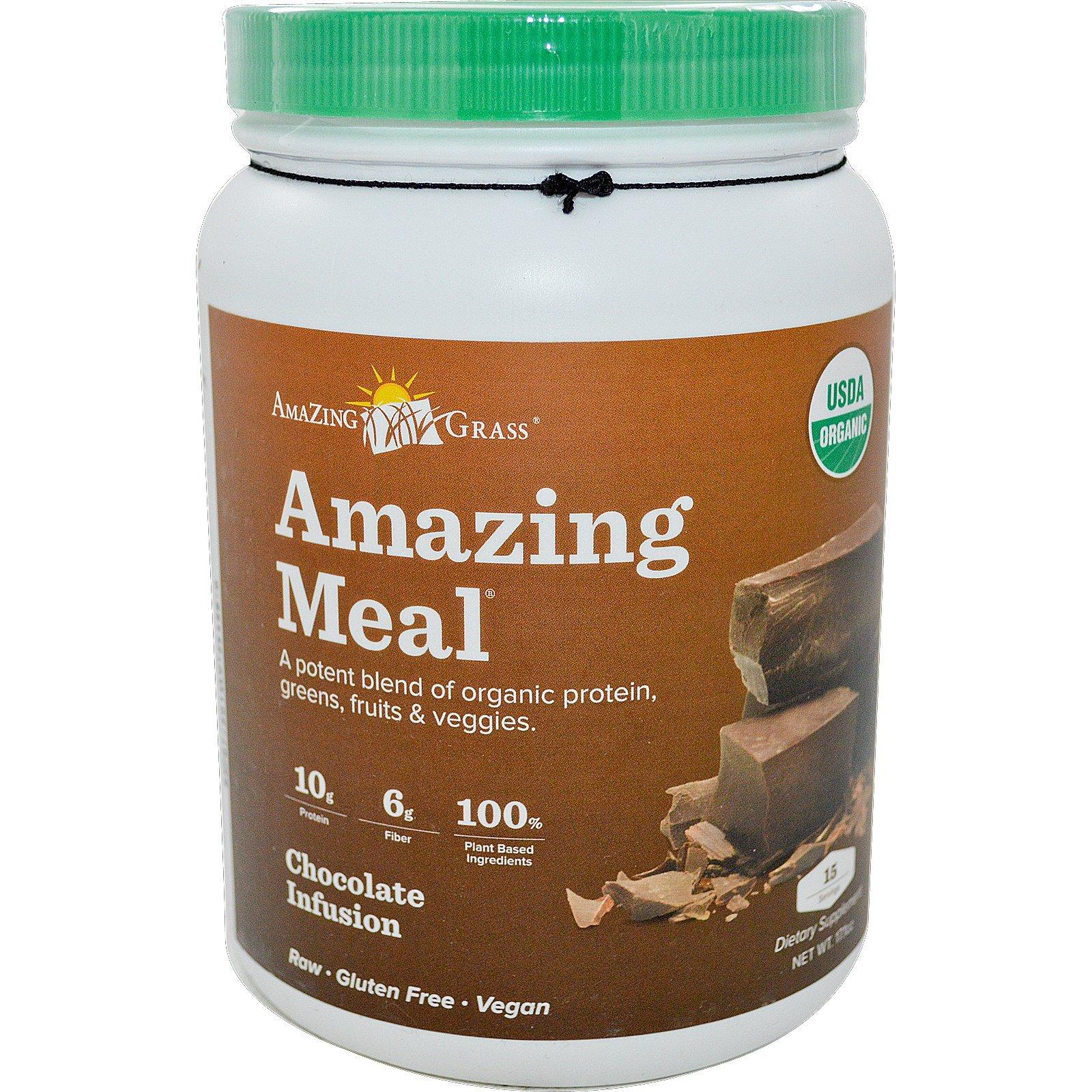 Amazing Grass, Amazing Meal, Chocolate Infusion, 17.1 oz - iHerb.com