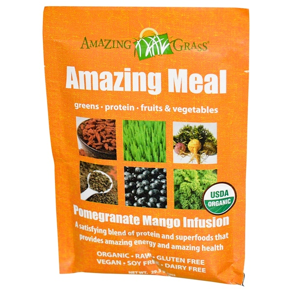 Amazing Grass, Amazing Meal, Pomegranate Mango Infusion, 29.3 g (Discontinued Item)