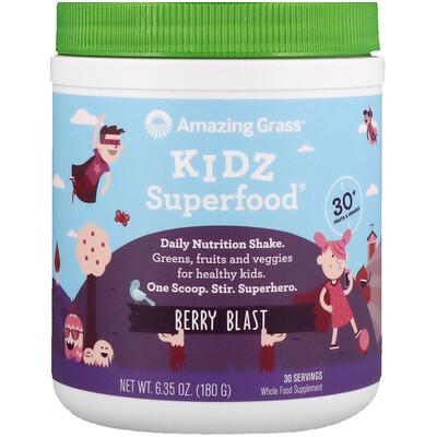 Купить Amazing Grass Детская суперпища, ягодный взрыв, 180 г