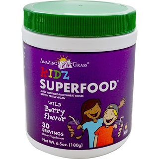 Amazing Grass, Kidz Superfood, Wild Berry Flavor, 6.5 oz (180 g)