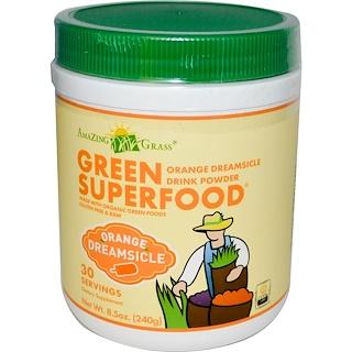 Amazing Grass, Green Superfood, Orange Dreamsicle Drink Powder, 8.5 oz (240 g)