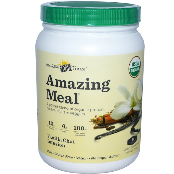 Amazing Grass, Amazing Meal, Vanilla Chai Infusion, 12.4 oz  (Discontinued Item)