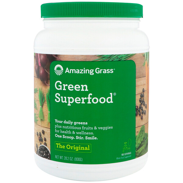 Amazing Grass, Super-aliment vert, l'original, 800 g (28,2 oz)