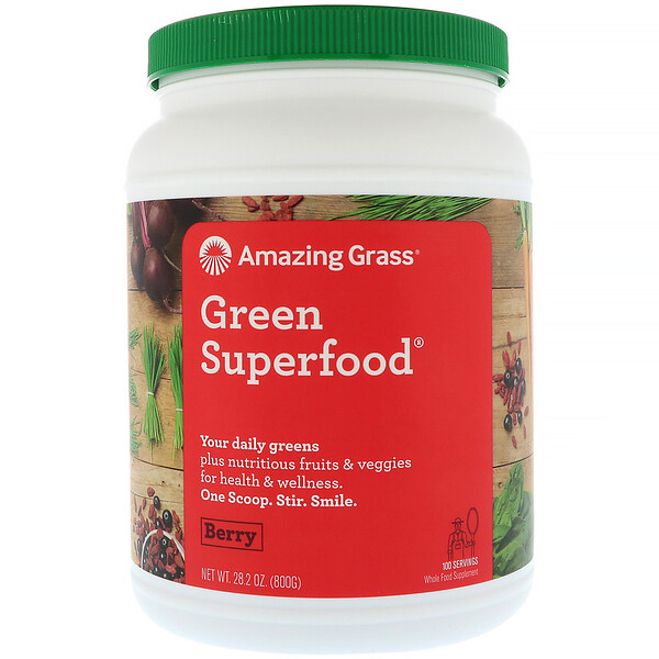 Amazing Grass, Green Superfood, 베리, 800g(28.2oz)