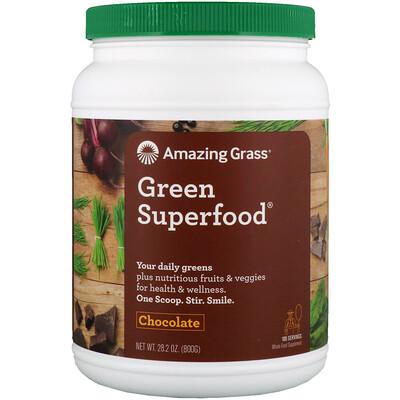 Зеленый суперпродукт, шоколадный растворимый напиток, 28.2 унций (800 г)