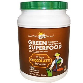 Amazing Grass, Green Superfood, Chocolate Drink Powder, 28 oz (800 g)