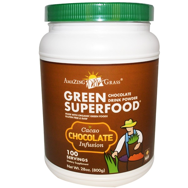 Amazing Grass, Green Superfood, Chocolate Drink Powder, 28 oz (800 g)