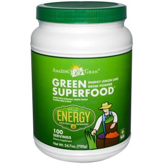 Amazing Grass, Green Superfood, Energy Lemon Lime Powder Drink, 24.7 oz (700 g)