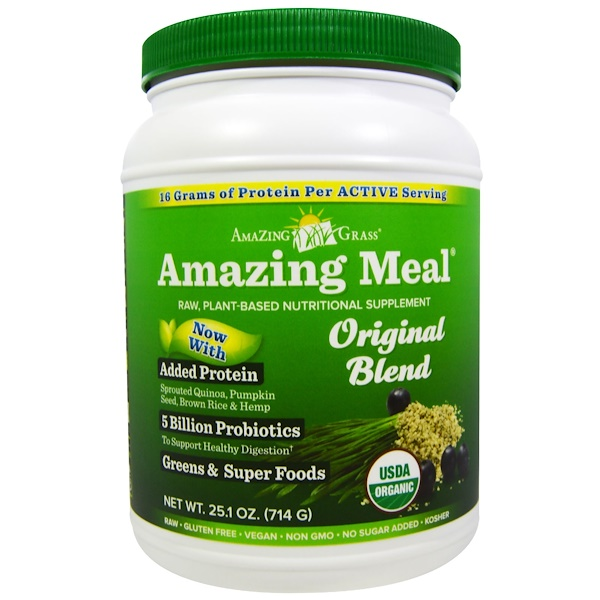 Amazing Grass, Amazing Meal, Original Blend, 25.1 oz (714 g) (Discontinued Item)