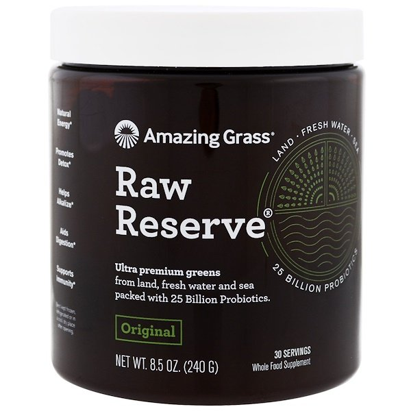 Amazing Grass, Raw Reserve, Ultra Premium Greens, Original, 8.5 oz (240 g)