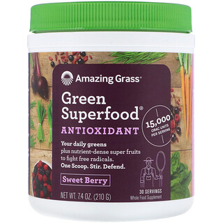 Amazing Grass, Green Superfood Antioxidant, Sweet Berry, 7.4 oz (210 g)