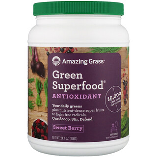 Amazing Grass, Green Superfood, Antioxidant, Sweet Berry, 1.5 lbs (700 g)