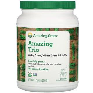 Amazing Grass, Amazing Trio, Barley Grass & Wheat Grass & Alfalfa, 28.2 oz (800 g)