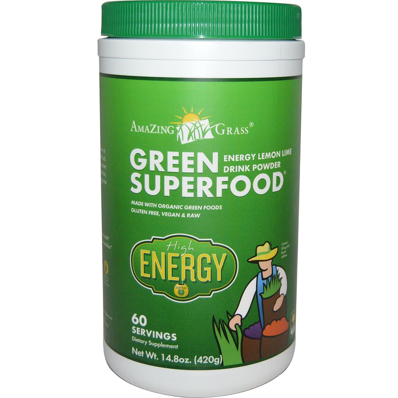 Amazing Grass, Green Superfood, Energy Lemon Lime Drink