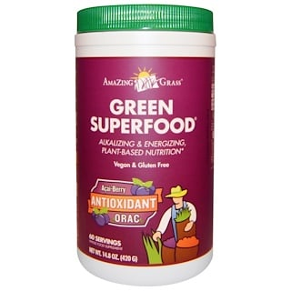 Amazing Grass, Green Superfood, Acai-Berry Antioxidant ORAC, 14.8 oz (420 g)