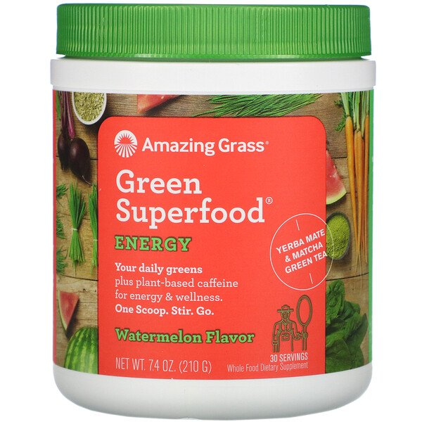 Green Superfood, Energy, Watermelon, 7.4 oz (210 g)