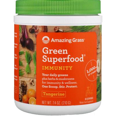 Купить Amazing Grass Green Superfood, Иммунитет, мандарин, 7, 4 унции (210 г)