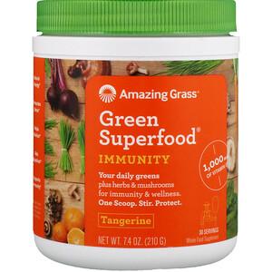 Амайзинг Грас, Green Superfood, Immunity, Tangerine, 7.4 oz (210 g) отзывы покупателей