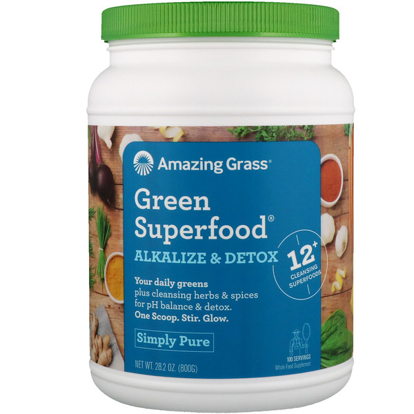Amazing Grass, Green Superfood, Alkalize & Detox, 28、2 oz (800 g)