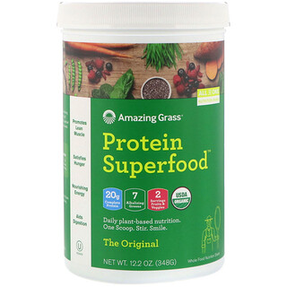 Amazing Grass, Protein Superfood 蛋白质粉,原味,12.2 盎司(348 克)