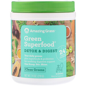 Амайзинг Грас, Green Superfood, Detox & Digest, 7.4 oz (210 g) отзывы покупателей