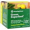 Amazing Grass, 綠色超級食品,泡騰片綠色食品,檸檬青檸味,6條,每條10片