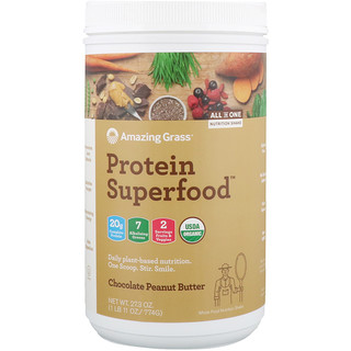 Amazing Grass, Protein Superfood, Chocolate Peanut Butter, 27.3 oz (774 g)