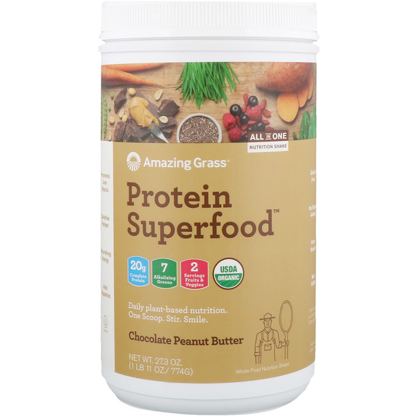 Protein Superfood, Chocolate Peanut Butter, 1.7 lbs (774 g)