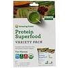 Amazing Grass, Protein Superfood Variety Pack, Two Flavors, Chocolate  Peanut Butter & Pure Vanilla, 2 Packets