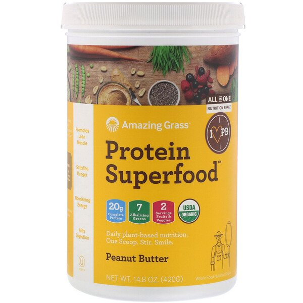 Protein Superfood, Peanut Butter, 14.8 oz (420 g)