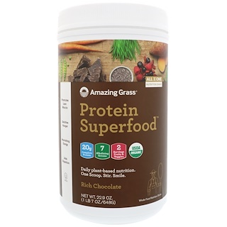Amazing Grass, Protein Superfood, Rich Chocolate, 1 lb 7 oz (648 g)