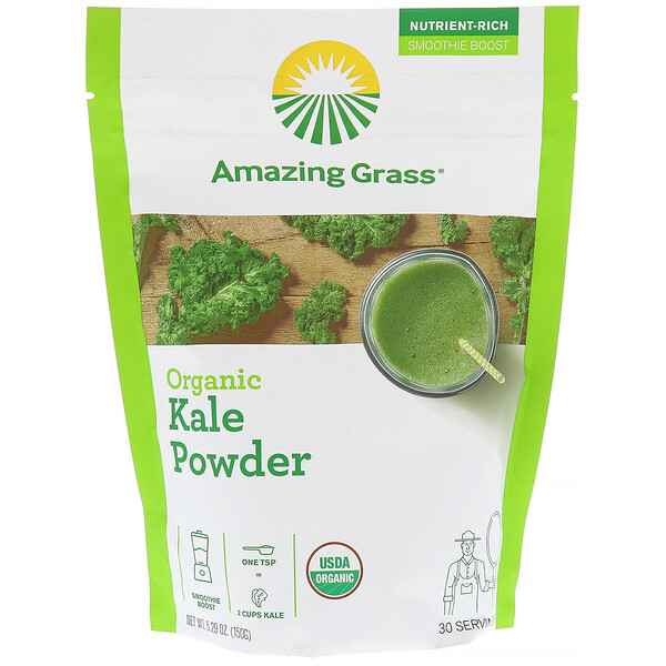 Organic Kale Powder, 5.29 oz (150 g)