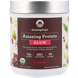 Амайзинг Грас, Organic Amazing Protein, Glow, Chocolate Rose, 12.2 oz (345 g) отзывы