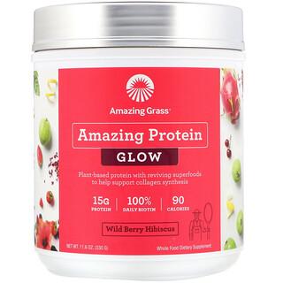 Amazing Grass, 有機神奇蛋白,發光,野生漿果木槿花,11.6 盎司(330 克)