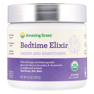 Amazing Grass, Bedtime Elixir, Greens and Adaptogens, 4.2 oz (120 g)