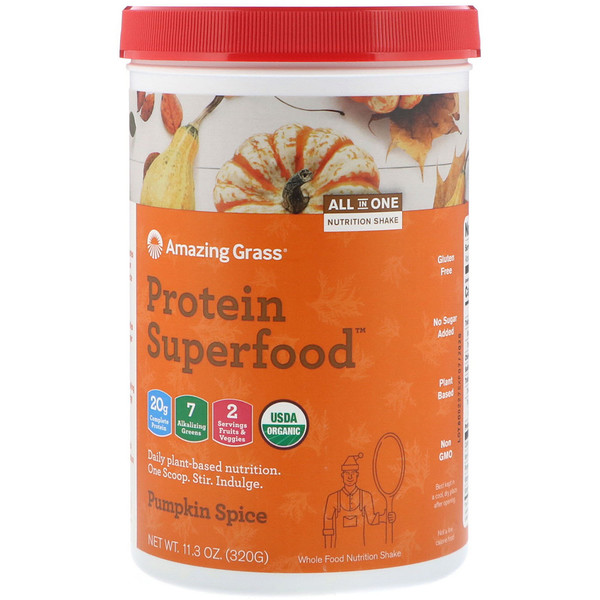 Protein Superfood, Holiday Pumpkin Spice, 11.3 oz (320 g)