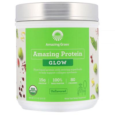 Купить Amazing Grass Organic Amazing Protein, Glow, Unflavored, 11.1 oz (315 g)