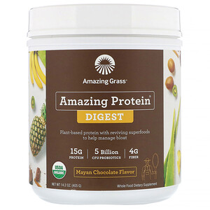 Amazing Grass, Amazing Protein, Digest, Mayan Chocolate Flavor, 5 Billion CFU, 14.2 oz (405 g)