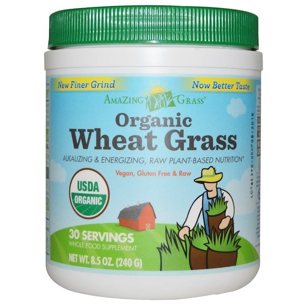 Amazing Grass, Organic Wheat Grass, 8.5 oz (240 g)