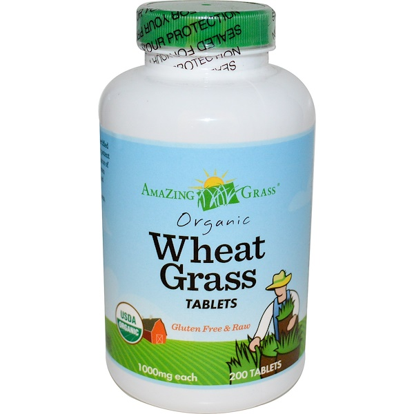Amazing Grass, Organic Wheat Grass Tablets, 1000 mg, 200 Tablets