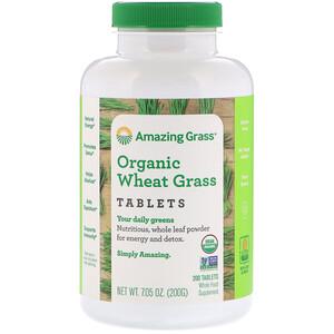 Амайзинг Грас, Organic Wheat Grass Tablets, 200 Tablets отзывы покупателей