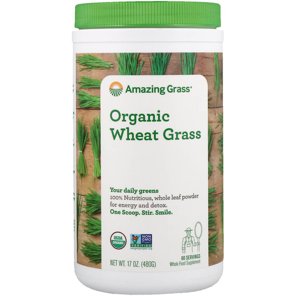 Organic Wheat Grass, 17 oz (480 g)