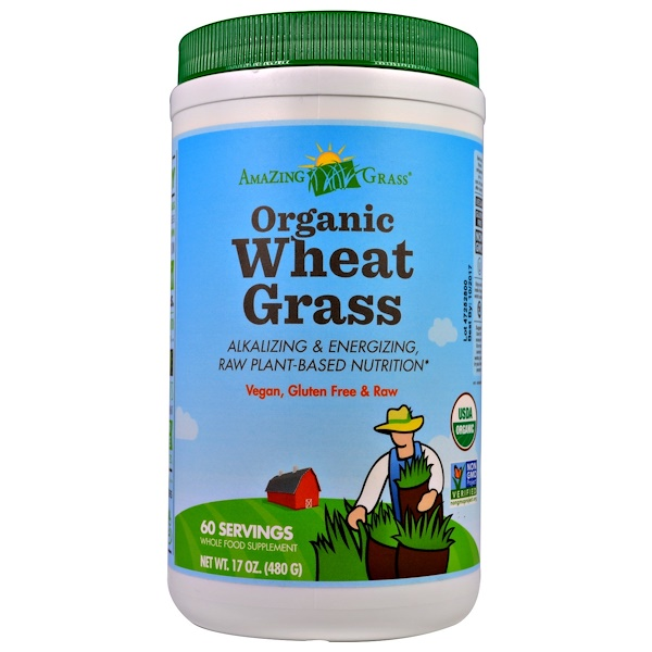 Amazing Grass, Organic Wheat Grass, 17 oz (480 g)