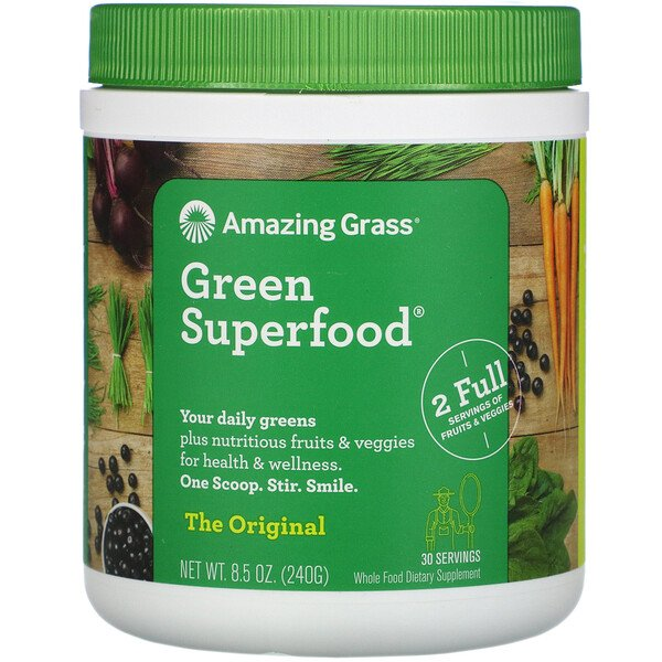 Amazing Grass, Grünes Superfood Original, 8,5 oz (240 g)