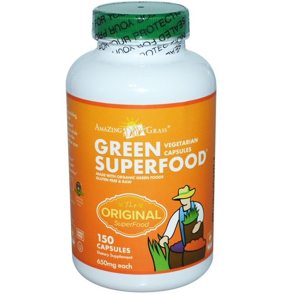 Amazing Grass, Green Superfood, 650 mg, 150 Capsules