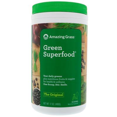Amazing Grass Оригинальная зеленая суперпища, 17 унц. (480 г)