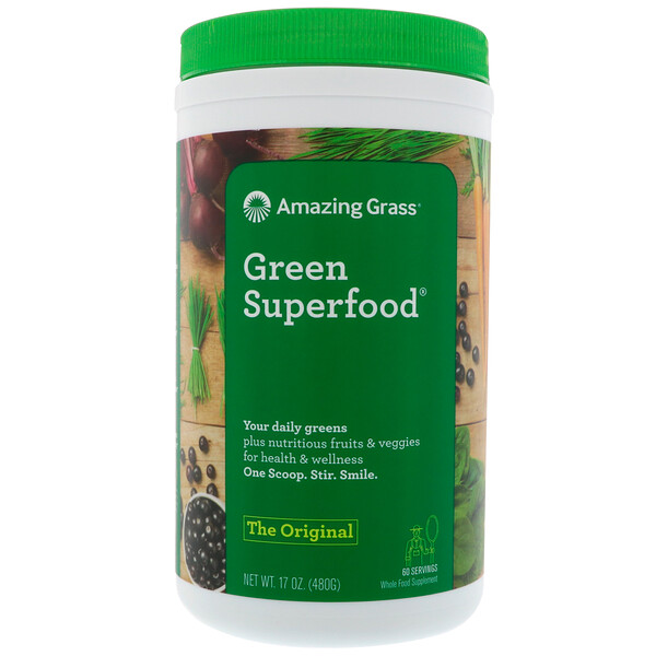 Amazing Grass, Le super-aliment vert original, 17 oz (480 g)