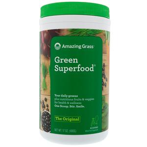 Амайзинг Грас, Green Superfood The Original, 17 oz (480 g) отзывы покупателей
